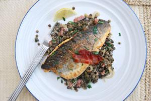 sea-bass-lentils